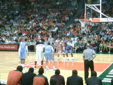 UM vs. UNC in Coral Gables - Damn we could have stole one!