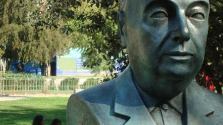 Chilean poet Pablo Nerdura in Santiago