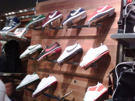 Nice NIKE SPORTSWEAR Shoe Wall...Dunks and Cortez are hot in Santiago